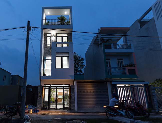 Thiết kế nhà phố đẹp 4 tầng tại Quận 9