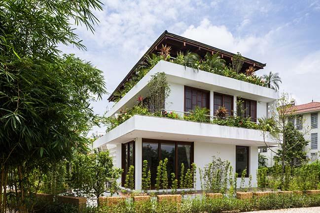 Mẫu nhà đẹp bậc thang tại Vĩnh Phúc