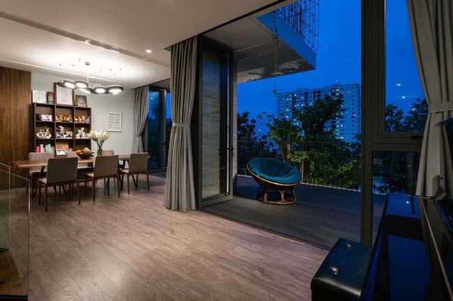 Thiết kế biệt thự đẹp 3 tầng trên sườn núi tại Vũng Tàu