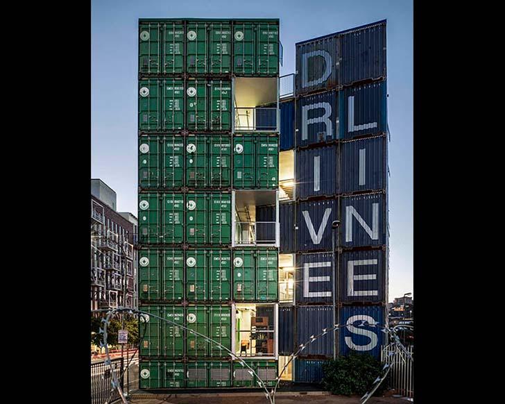 Kiến trúc tòa cao ốc chung cư 7 tầng bằng container