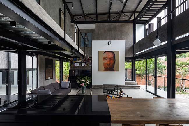 Tham quan mẫu biệt thự đẹp của họa sĩ Hoàng Tường tại Củ Chi
