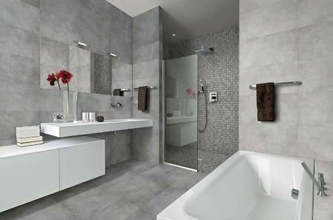 Kết quả hình ảnh cho phòng tắm xám