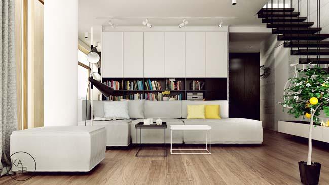 Thiết kế nội thất nhà đẹp 2 tầng với phong cách hiện đại sang trọng (2)