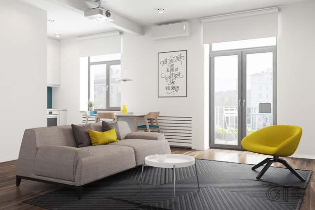 Căn hộ chung cư 48m2 rộng hơn sau khi được cải tạo